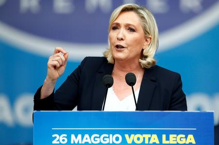 Rally of European nationalist and far-right parties ahead of EU parliamentary elections in Milan