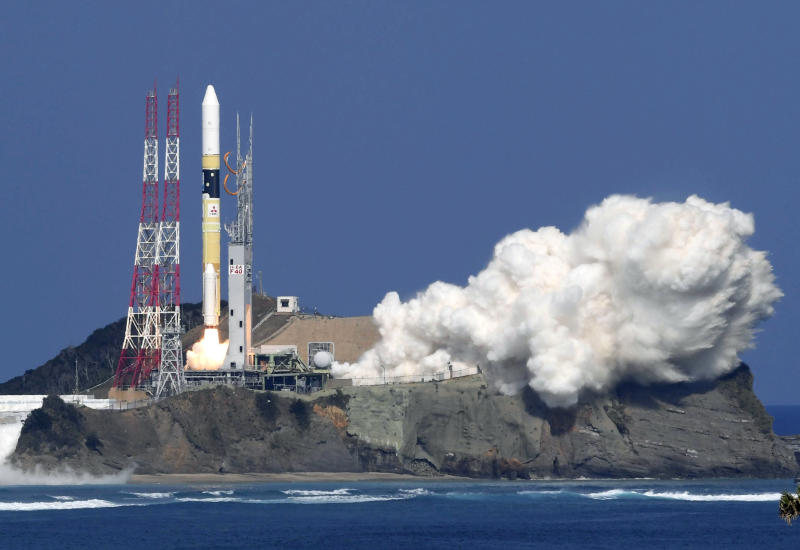 Japan's rocket H-2A is launched carrying aboard a green gas observing satellite