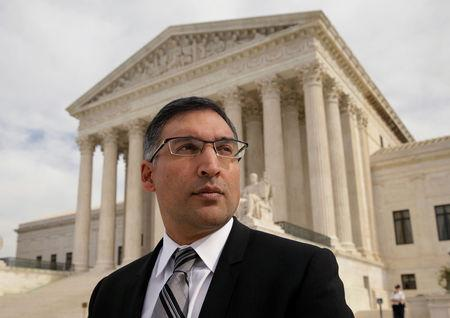 Attorney Neal Katyal is seen in front of the U.S. Supreme Court building after arguing a case before the court in Washington, November 2014. REUTERS/Gary Cameron