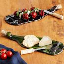 <p>You know the love is real if they serve you cheese and crackers in this <span>Recycled Wine Bottle Platter with Spreader</span> ($24). </p>