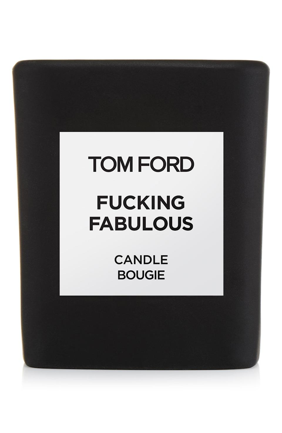 "<p><strong>TOM FORD</strong></p><p>nordstrom.com</p><p><strong>$132.00</strong></p><p><a href=""https://go.redirectingat.com?id=74968X1596630&url=https%3A%2F%2Fshop.nordstrom.com%2Fs%2Ftom-ford-fabulous-candle%2F5084903&sref=https%3A%2F%2Fwww.cosmopolitan.com%2Flifestyle%2Fg28518643%2Fluxury-candles%2F"" rel=""nofollow noopener"" target=""_blank"" data-ylk=""slk:Shop Now"" class=""link rapid-noclick-resp"">Shop Now</a></p><p>I mean, the name of this one really says it all. But if you need to know what F*cking Fabulous really smells like, it has notes of leather, sage, vanilla, and tonka bean for a rich (in every sense of the word) fragrance. Yes, it's pricey, but it burns up to 40 hours, and sometimes you just feel like splurging after payday.</p>"