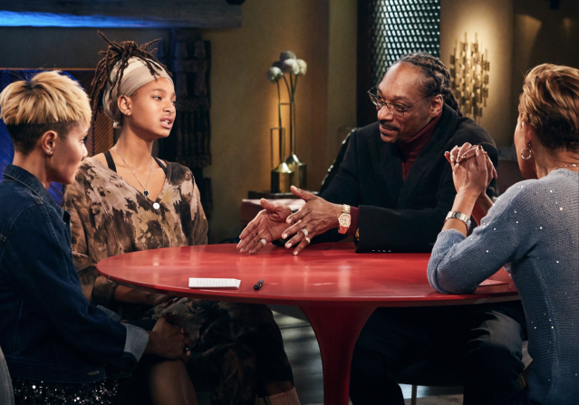 Snoop Dogg appeared on Red Table Talk to discuss his criticism of Gayle King over the Kobe Bryant questioning. (Photo: Eric Michael Roy/Facebook Watch)