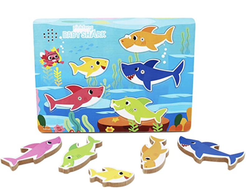 Pinkfong Baby Shark Chunky Wood Sound Puzzle - Plays Baby Shark Song. (PHOTO: Amazon)