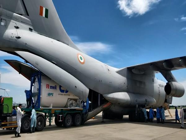 IL-76 bringing 3 containers from Bangkok (Photo/ANI)