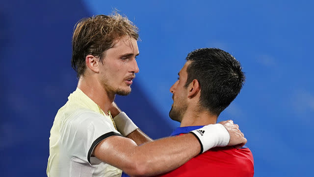 Novak Djokovic's Golden Slam dream ended after he lost to Germany's Alexander Zverev by scores of 1-6, 6-3, 6-1 in the men's singles semi-finals. Zverev will face Russian Olympic Committee's Karen Khachanov in the gold medal clash. AP