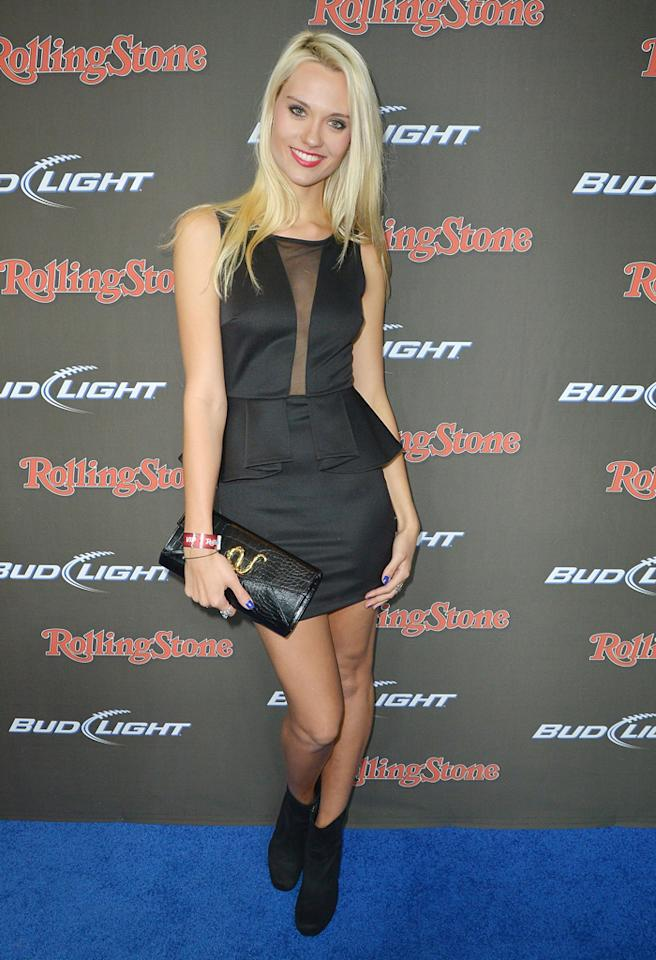 NEW ORLEANS, LA - FEBRUARY 01:  Model Laura James arrives at the Rolling Stone LIVE party held at the Bud Light Hotel on February 1, 2013 in New Orleans, Louisiana.  (Photo by Gustavo Caballero/Getty Images for Rolling Stone)