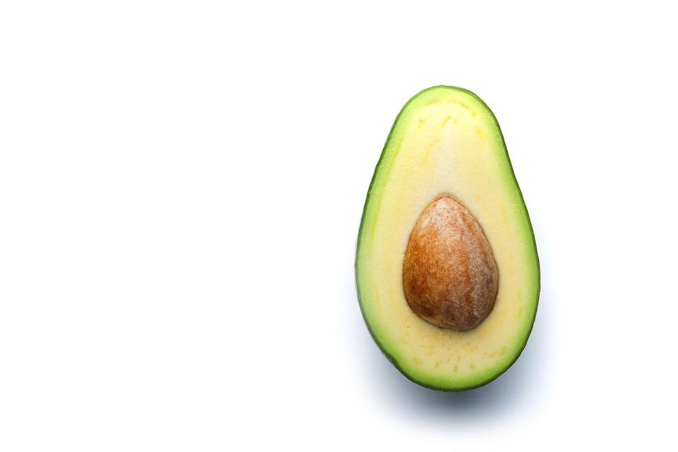"""<p>Avocados are a great source of fat—half of one contains about 15g fat, most of which is <strong>healthy unsaturated fat</strong>. Keep it simple with just a sprinkle of salt and a squeeze of lemon. Or, <a href=""""https://www.prevention.com/food-nutrition/recipes/a22656547/easy-smoky-guacamole-recipe/"""" rel=""""nofollow noopener"""" target=""""_blank"""" data-ylk=""""slk:whip it into guacamole"""" class=""""link rapid-noclick-resp"""">whip it into guacamole</a> and eat it with your favorite low-carb veggies, suggests Ernst.</p>"""
