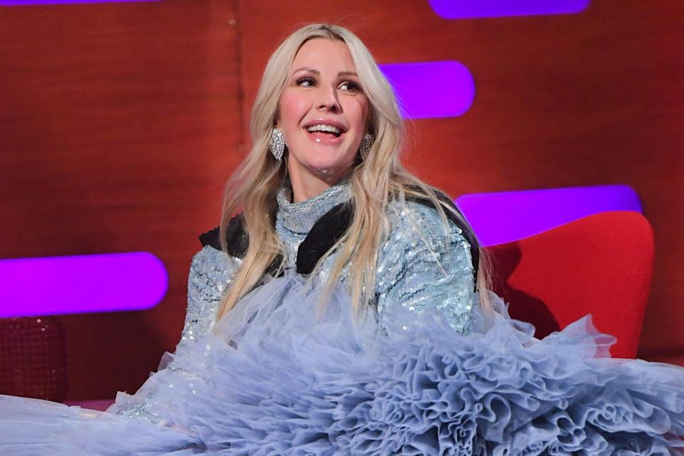 Ellie Goulding during filming for the Graham Norton Show (PA)