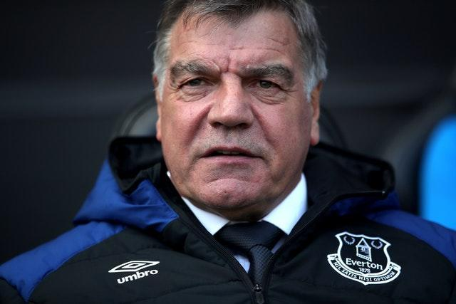 Sam Allardyce's last role in management was with Everton during the 2017-18 season