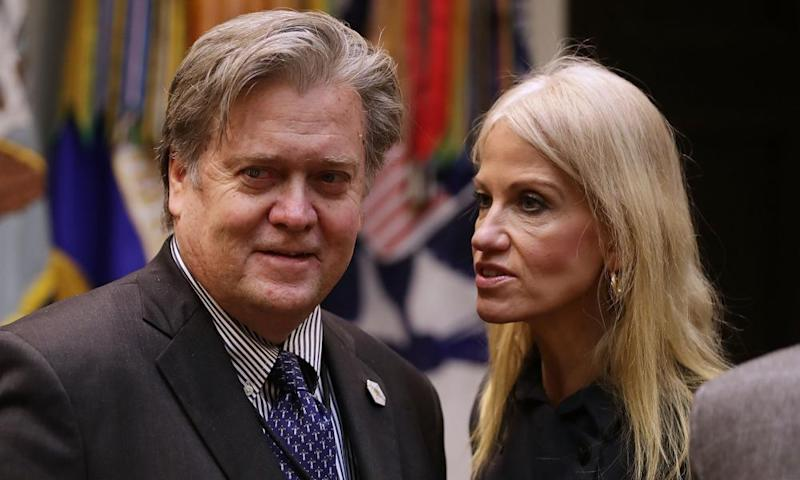 Steve Bannon and Kellyanne Conway are among the most prominent figures in Donald Trump's inner circle.