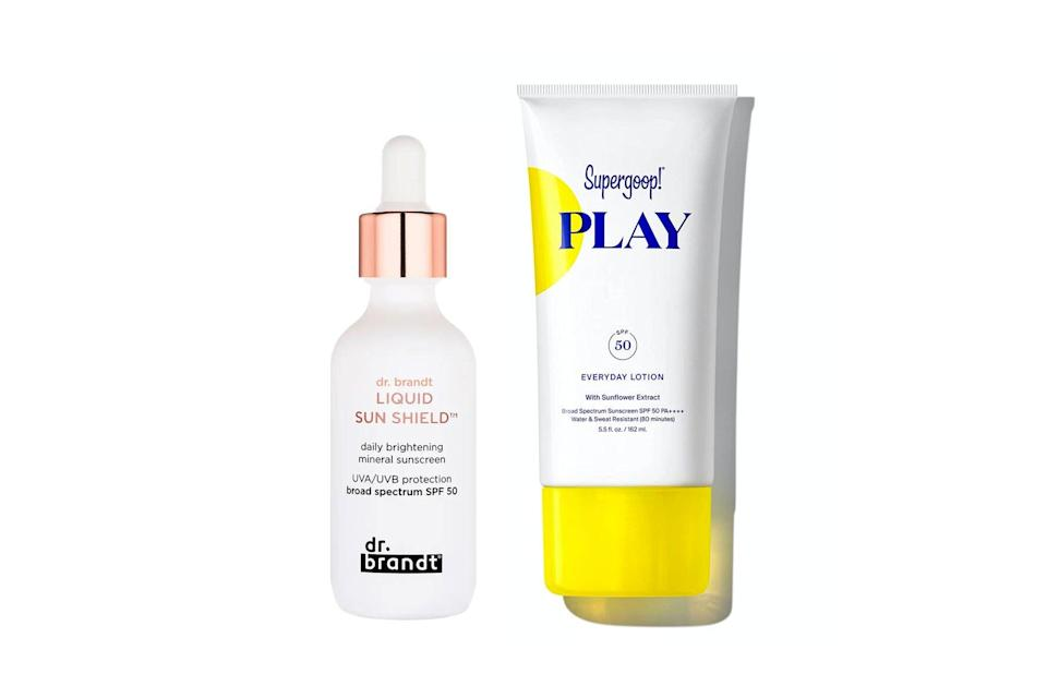 two different sunscreens