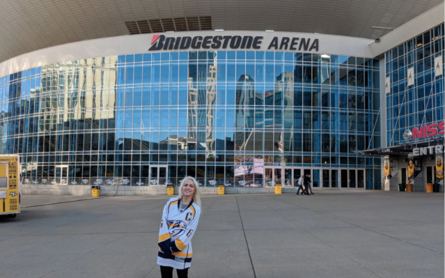 Bridgestone Arena is, err, not in New Jersey. (Twitter/@sydneysanders_)