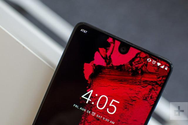 Essential phone review top angle