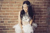"""<p>Tutu Tuesday is a tradition at Burning Man and this outfit fits the theme perfectly with a blend of whimsical and feminine. This white, ethereal mermaid top with painted shells created by <a href=""""https://www.etsy.com/shop/CherryToppings"""" rel=""""nofollow noopener"""" target=""""_blank"""" data-ylk=""""slk:Cherry Topping"""" class=""""link rapid-noclick-resp"""">Cherry Topping</a> is entirely hand-stitched and comes paired with an adjustable, flouncy tutu bottom.</p>"""
