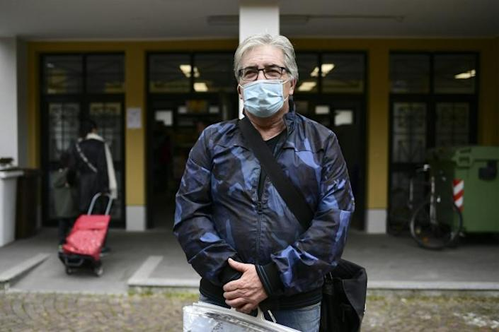 Unemployed Antonio DiGregorio, 64, worries about the competition for jobs with droves out of work (AFP Photo/MIGUEL MEDINA)
