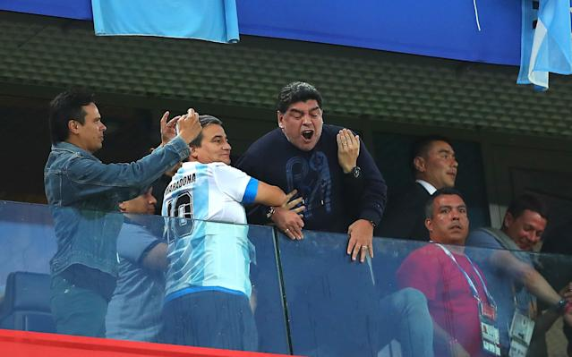 Gary Lineker calls Diego Maradona a 'laughing stock' after middle-finger gesture