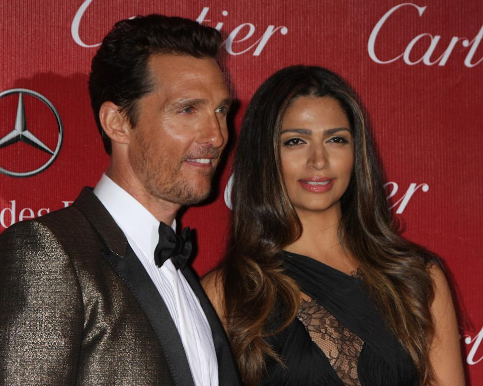 Married couple Matthew McConaughey and Camila Alves