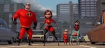 """<p>Pixar's <a rel=""""nofollow"""" href=""""https://www.yahoo.com/entertainment/tagged/incredibles-2"""" data-ylk=""""slk:beloved superhero family"""" class=""""link rapid-noclick-resp"""">beloved superhero family</a> picks up where it left off in 2004, battling villains in a world where superpowers have been banned — except this time, wife and mother Elastigirl (Holly Hunter) leads the fight against evil while Mr. Incredible (Craig T. Nelson) stays home with teenage Violet (Sarah Vowell), 10-year-old Dash (Huck Milner), and baby Jack-Jack. 