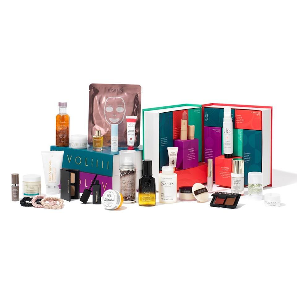 "<p>If you're scratching your head trying to decide between skin, hair, and makeup beauty gifts this year, Space NK has your solution. The retailer's Beauty Anthology set includes 25 of its best-selling high-end products that span all beauty categories.</p> <p><strong>$265</strong> (<a href=""https://www.spacenk.com/us/en_US/new/skincare/space-nk-advent-calendar---the-beauty-anthology-MUK300054655.html"" rel=""nofollow"">Shop Now</a>)</p>"