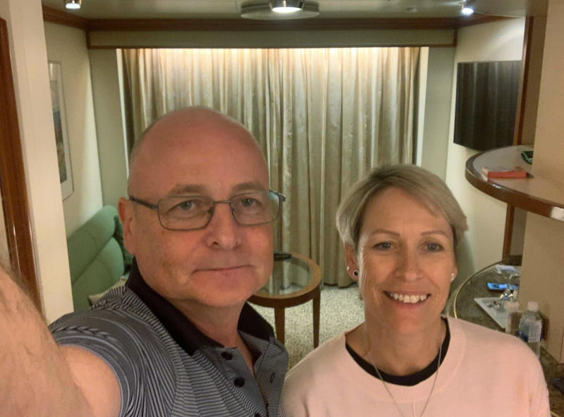Cairns couple Paul and Jacqui Fidrmuc are on board the Diamond Princess cruise ship off Japan. Source: AAP