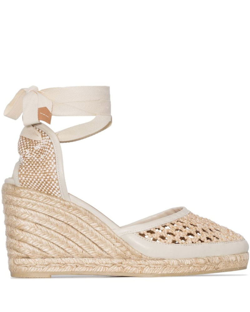 Carola 80mm crochet wedge espadrilles. Image via Farfetch.