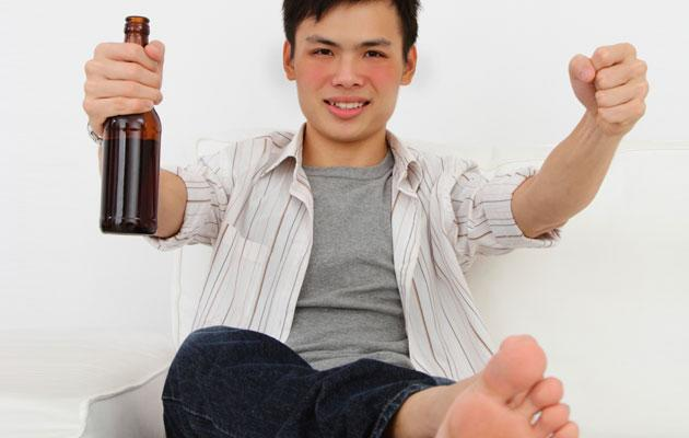 Turning red-faced after consuming alcohol is a sign of Asian Flush Syndrome. (Thinkstock photo)