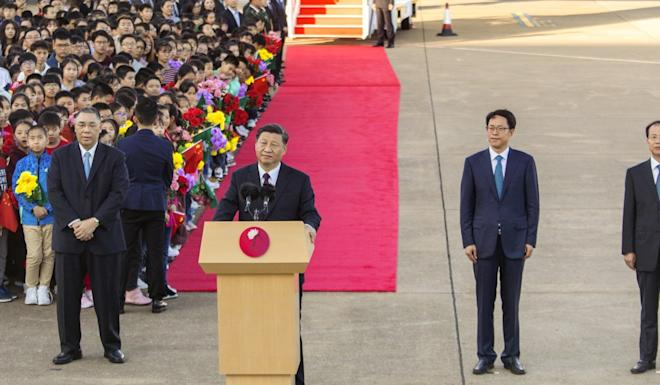 President Xi Jinping visited Macau last month to mark the 20th anniversary of its return to Chinese rule. Photo: Bloomberg