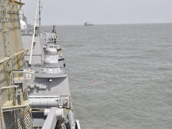 Indian Navy Ship carries search and rescue operation in Arabian Sea. (Photo/ANI)