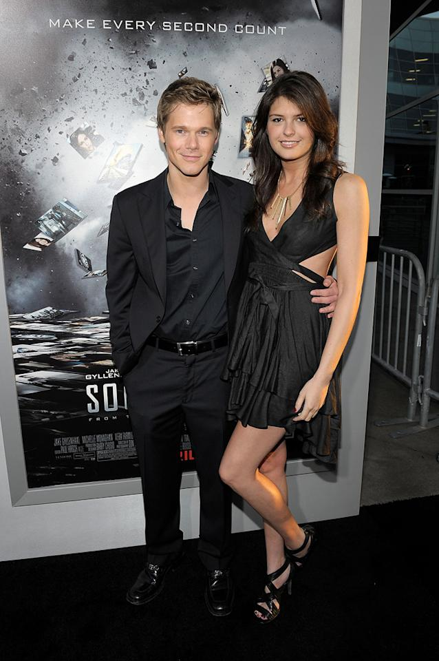 """<a href=""""http://movies.yahoo.com/movie/contributor/1810181462"""">Michael Nardelli</a> and guest attend the Los Angeles premiere of <a href=""""http://movies.yahoo.com/movie/1810150340/info"""">Source Code</a> on March 28, 2011."""