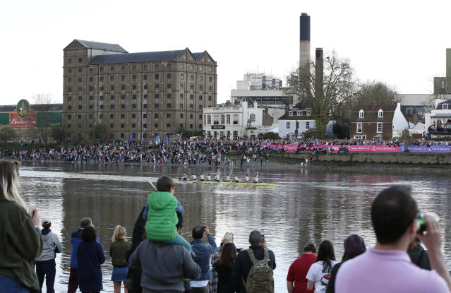 Britain Rowing - 2017 Oxford v Cambridge University Boat Race - River Thames, London - 2/4/17 Cambridge celebrate winning the womens boat race Action Images via Reuters / Paul Childs Livepic