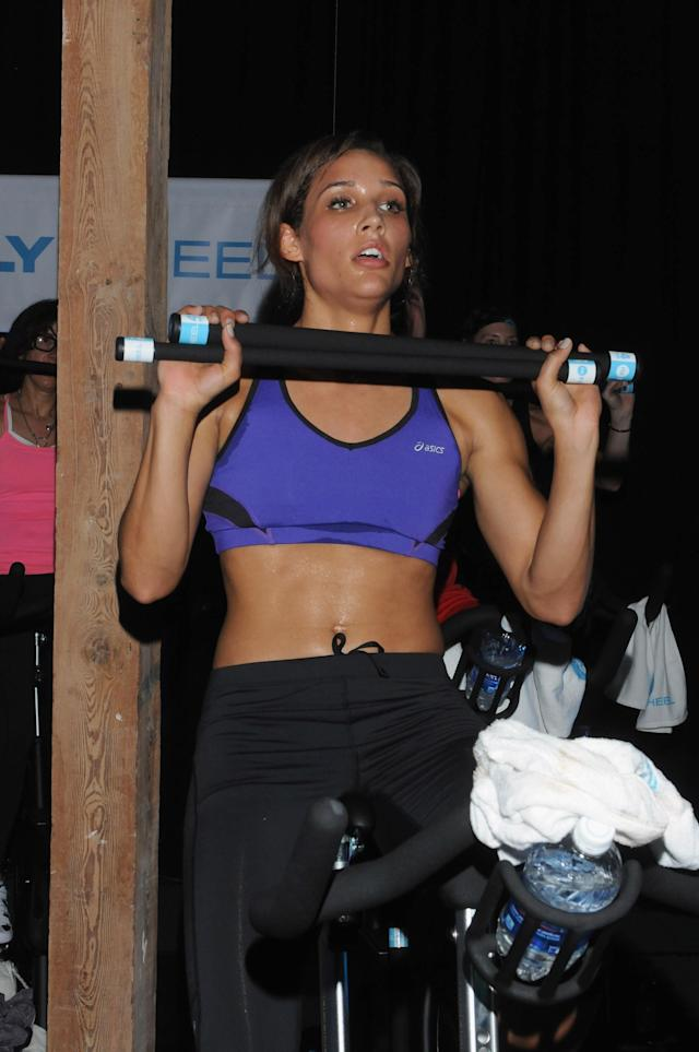 NEW ORLEANS, LA - FEBRUARY 01: Olympian Lolo Jones attends The Flywheel Challenge at the NFL House hosted by Shannon Sharpe at The Chicory on February 1, 2013 in New Orleans, Louisiana. (Photo by Vivien Killilea/Getty Images for Flywheel)