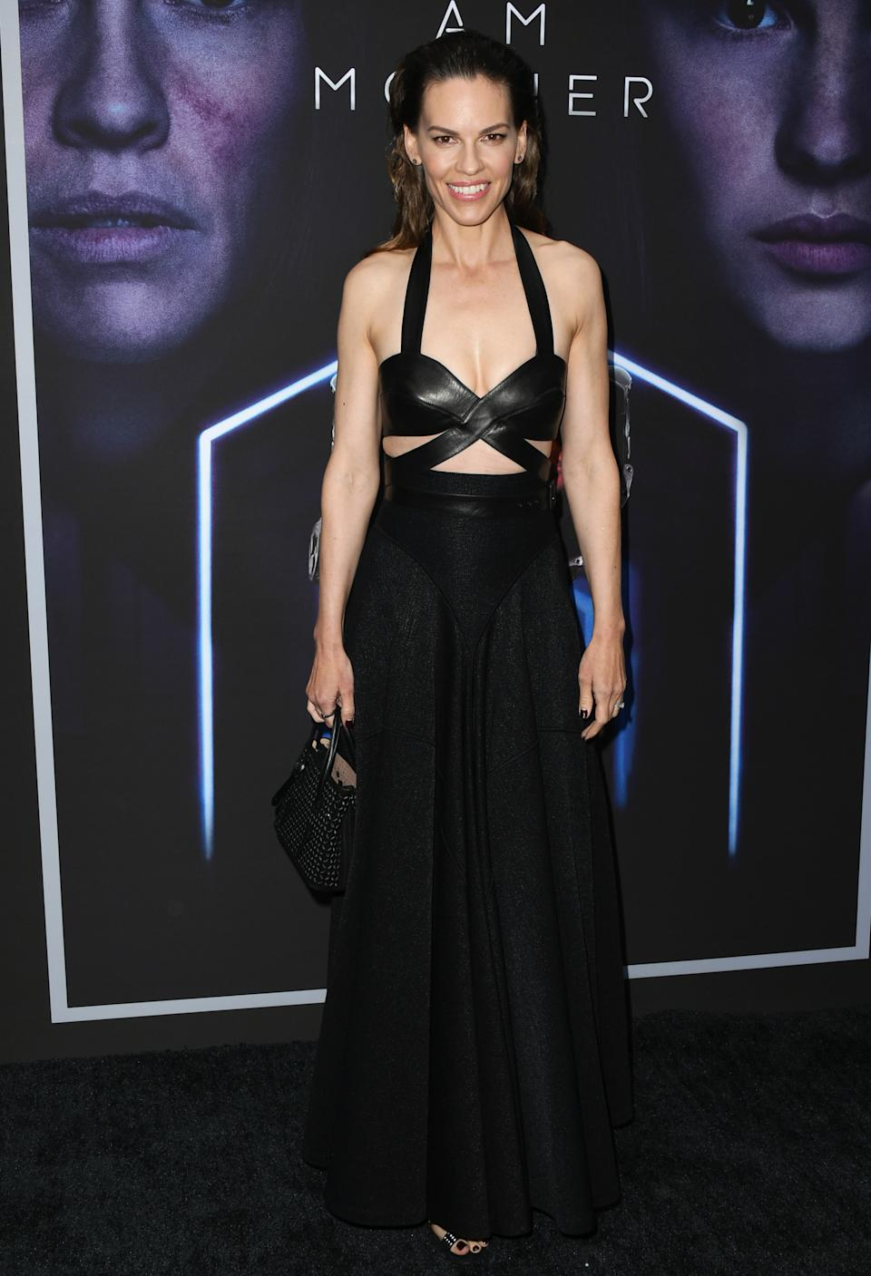 On June 6, the actress made a red carpet comeback in a cut-out ensemble with slicked back hair to finish. <em>[Photo: Getty]</em>