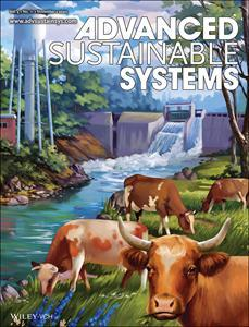 """Clarkson University research is featured on the front cover of the November issue of Advanced Sustainable Systems. The stylized cover artwork (above) features a North Country landmark, the surge tank of a Raquette River hydroelectric plant in nearby Hannawa Falls, where both of the paper's authors reside. (Photo credit: J. Pokrzywinski, D. Aulakh, W. Verdegaal, V.H. Pham, H. Bilan, S. Marble, D. Mitlin, M. Wriedt: """"Dry and Wet CO2 Capture from Milk-Derived Microporous Carbons with Tuned Hydrophobicity."""" Advanced Sustainable Systems. 2020. Volume 4. Issue 11. Pages 207022. Copyright Wiley-VCH GmbH. Reproduced with permission.)"""