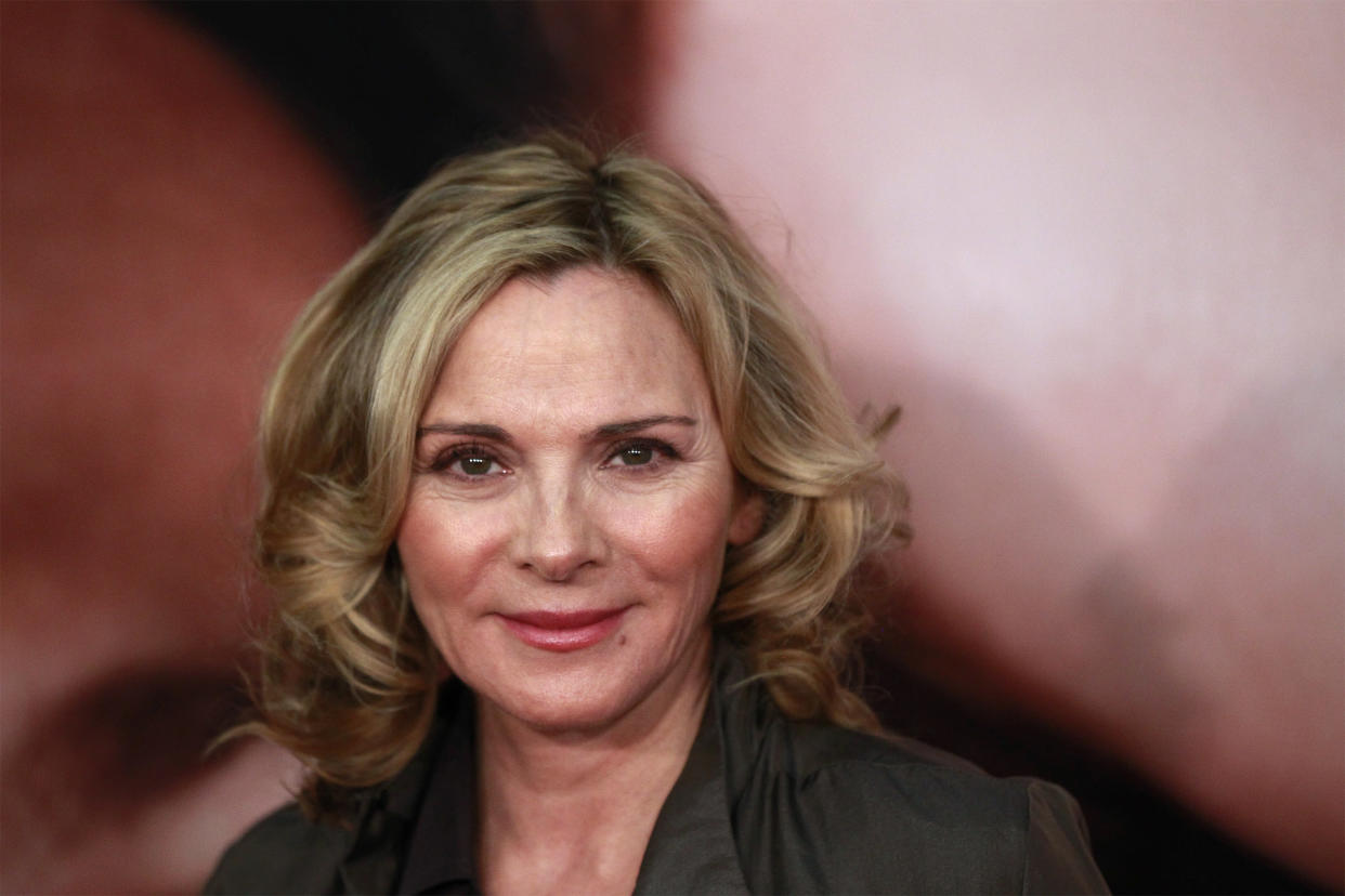 Actress Kim Cattrall arrives for the premiere of the film