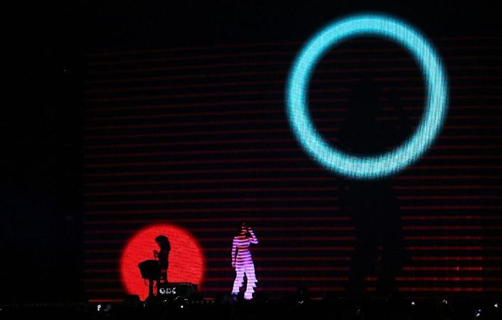 Singer Rihanna performs at the February Brit Awards, which were criticised for the lack of ethnic minority nominees (AFP Photo/Justin Tallis)