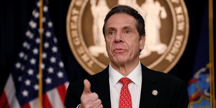 Gov. Cuomo at a news conference regarding the first confirmed case of coronavirus in New York State on March 2, 2020.