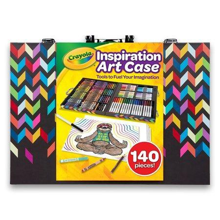 """<p><strong>Crayola</strong></p><p>walmart.com</p><p><strong>$19.97</strong></p><p><a href=""""https://go.redirectingat.com?id=74968X1596630&url=https%3A%2F%2Fwww.walmart.com%2Fip%2F519838436&sref=https%3A%2F%2Fwww.goodhousekeeping.com%2Fhome%2Fcraft-ideas%2Fg31897586%2Fcraft-kits-for-kids%2F"""" rel=""""nofollow noopener"""" target=""""_blank"""" data-ylk=""""slk:Shop Now"""" class=""""link rapid-noclick-resp"""">Shop Now</a></p><p>If you just want to load them up with supplies and let their imaginations run wild, Crayola's Inspiration Art Case is all they need. It comes with 140 pieces, including markers, crayons, and colored pencils.</p>"""
