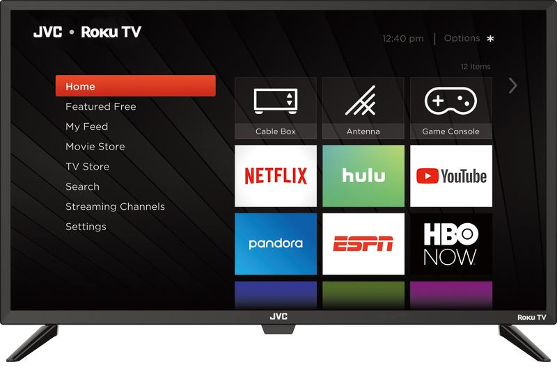 JVC and Roku teamed up for this HD TV. (Photo: Walmart)
