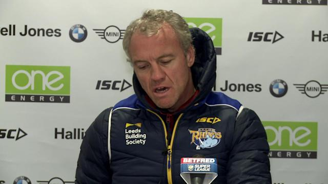Leeds head coach on Leeds 16-12 Betfed Superleague win at Warrington Wolves plus a look ahead to World Club championship trip to Australia