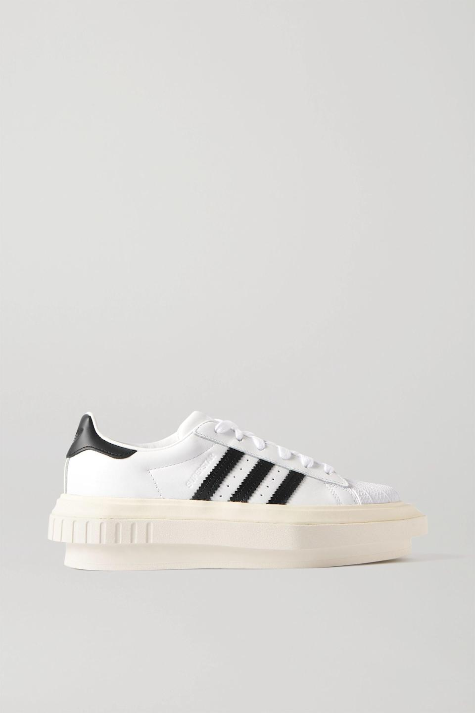"""<p><strong>adidas Originals</strong></p><p>net-a-porter.com</p><p><strong>$200.00</strong></p><p><a href=""""https://go.redirectingat.com?id=74968X1596630&url=https%3A%2F%2Fwww.net-a-porter.com%2Fen-us%2Fshop%2Fproduct%2Fadidas-originals%2Fbeyonce-superstar-leather-platform-sneakers%2F1262191&sref=https%3A%2F%2Fwww.townandcountrymag.com%2Fstyle%2Ffashion-trends%2Fg35155148%2F2021-shoe-trends%2F"""" rel=""""nofollow noopener"""" target=""""_blank"""" data-ylk=""""slk:Shop Now"""" class=""""link rapid-noclick-resp"""">Shop Now</a></p>"""