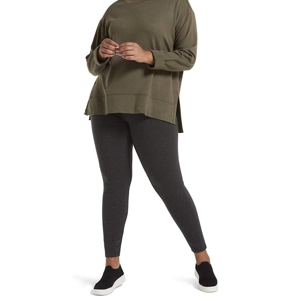 """<p><strong>Reviews & rating:</strong> 12,512 reviews, 4.3 out of 5 stars.</p> <p><strong>Key selling points:</strong> If you're looking for a no-frills pair of cotton everyday leggings with a thinner waistband, these are for you. They are not compression workout leggings, but reviewers rave about the breathable material and cozy fit. </p> <p><strong>What customers say:</strong> """"As far as I'm concerned, these are the best leggings I've ever worn. The thin waistband makes them extremely comfortable, and they are durable after what seems like scores of washings. I wear these for biking, yoga, hiking, and around the house. The price is great for the quality. They don't wear out quickly on active inner thighs, either, which is always a bonus when dealing with such thin cloth and lots of friction. I own about five pair of these at any given time."""" —<a href=""""https://amzn.to/32fhZsW"""" rel=""""nofollow noopener"""" target=""""_blank"""" data-ylk=""""slk:Jessica"""" class=""""link rapid-noclick-resp""""><em>Jessica</em></a><em>, reviewer on Amazon</em></p> $12, Amazon. <a href=""""https://www.amazon.com/No-Nonsense-Womens-Cotton-Legging/dp/B082WZNFXW/ref="""" rel=""""nofollow noopener"""" target=""""_blank"""" data-ylk=""""slk:Get it now!"""" class=""""link rapid-noclick-resp"""">Get it now!</a>"""