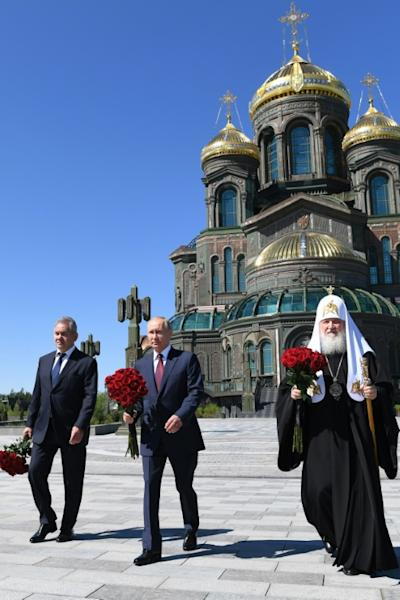 The Cathedral of the Armed Forces in a military theme park outside Moscow is now Russia's third-largest Orthodox Christian church (AFP Photo/Alexey NIKOLSKY)