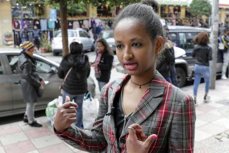 Mary, a domestic worker from Ethiopia, in the Lebanese capital Beirut (AFP Photo/ANWAR AMRO)