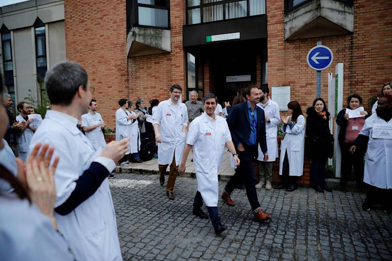 Doctors were protesting in recent months over healthcare problems in France: AFP via Getty Images