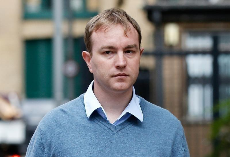 Former trader Tom Hayes arrives at Southwark Crown Court in London, Britain