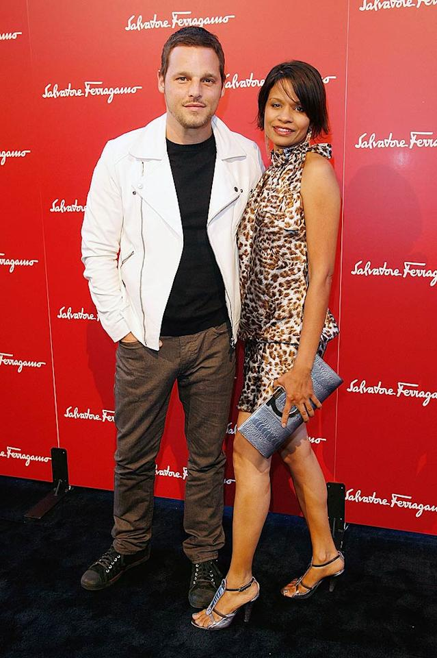 """""""Grey's Anatomy"""" hunk Justin Chambers and his wife, Keisha, made for one of the night's cutest couples. Donato Sardella/<a href=""""http://www.wireimage.com"""" target=""""new"""">WireImage.com</a> - June 2, 2009"""