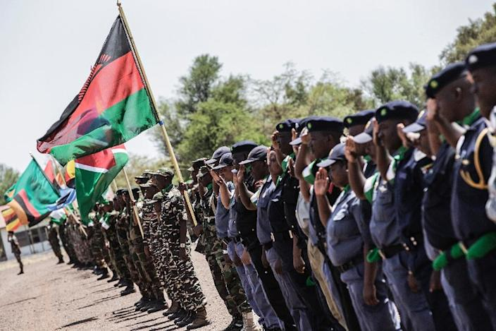 Soldiers from different African countries salute during a parade for the official opening of the AMANI AFRICA II exercise (AFP Photo/Gianluigi Guercia)