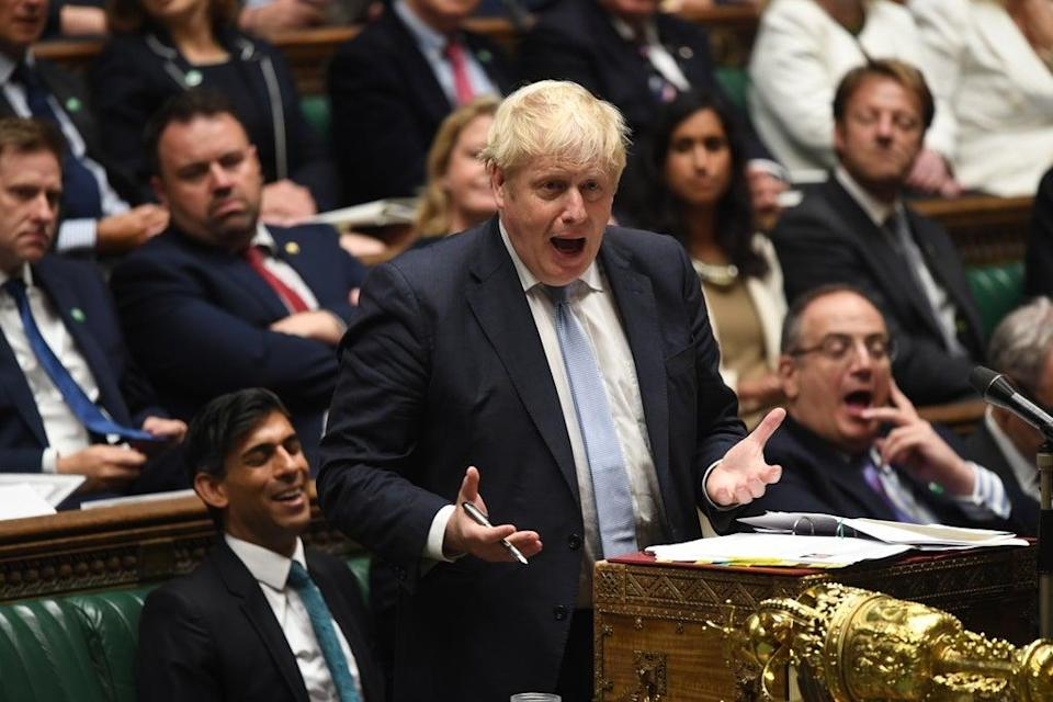 Boris Johnson during Prime Minister's Questions (Jessica Taylor/UK Parliament/PA) (PA Media)