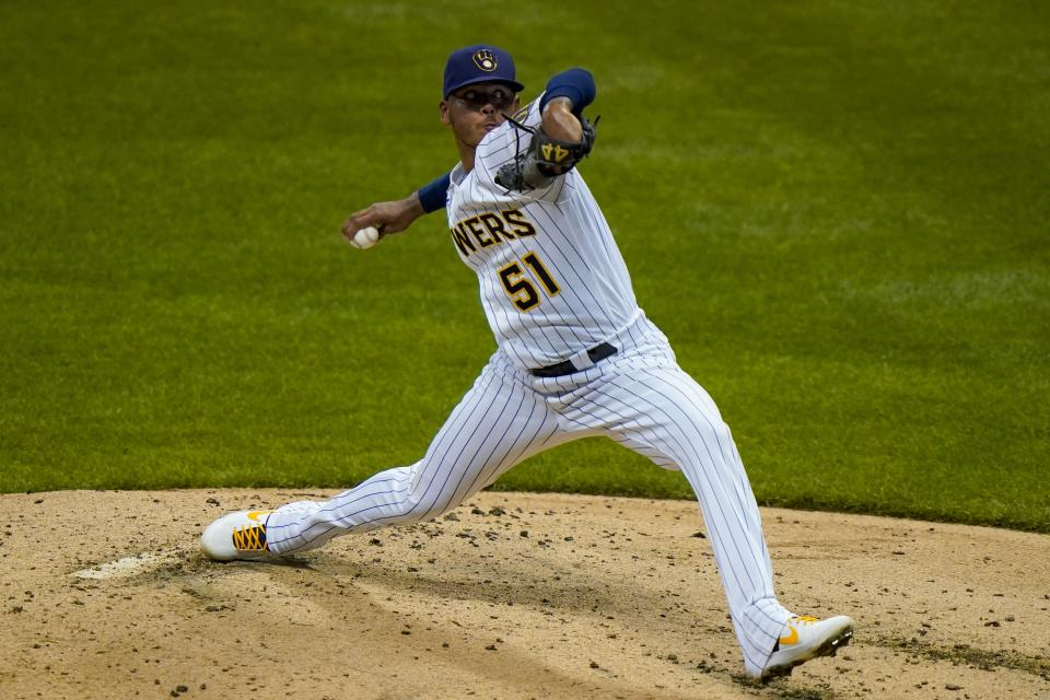 Milwaukee Brewers relief pitcher Freddy Peralta