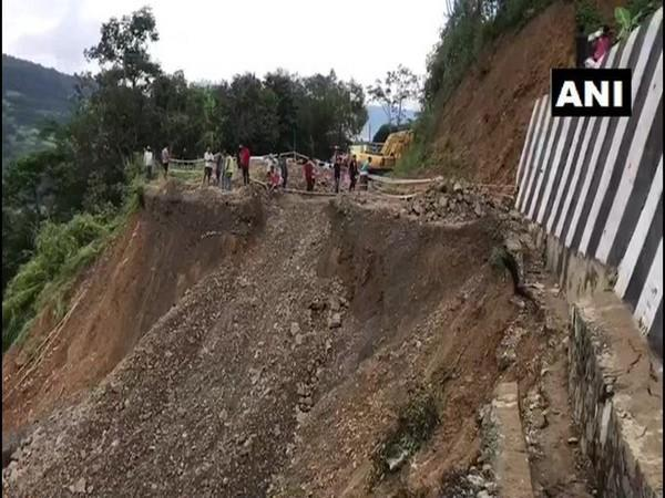 Visual of the landslide (Photo/ANI)